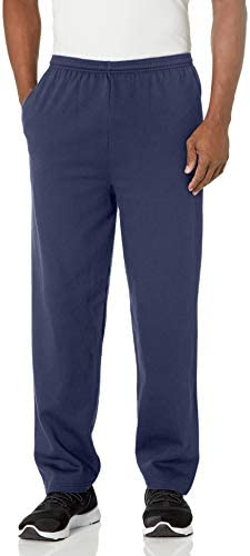Hanes Men's EcoSmart Open Leg Fleece Pant with Pockets