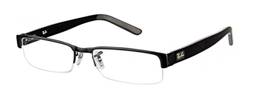 Ray-ban Rx6182 Eyeglasses 2509 Silver On Black Demo Lens 53 17 - 53 Ray Ban 17