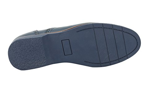 taglia stile italiano UK similpelle formale Xposed nuovo intelligente in Blue stringate da scarpe Brogue uomo YCqXwAX7x