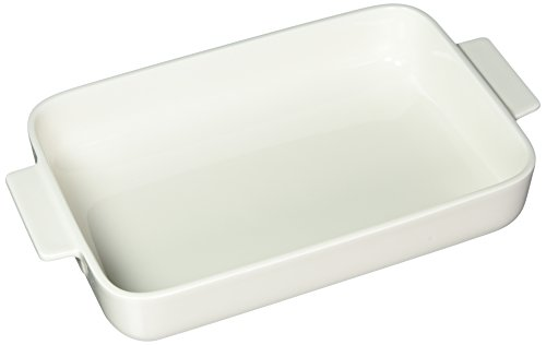 Clever Cooking Rectangular Baking Dish with Lid by Villeroy & Boch - Premium Porcelain Baking Dish - Made in Germany - Dishwasher and Microwave Safe - 11.75 x 9.5 Inches (White Rectangular Casserole Dish)