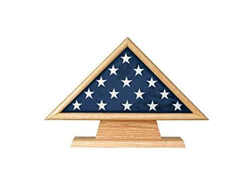Memorial Pedestal (5 X 9.5 Flag Memorial Case on Pedestal with Engraved Plate)
