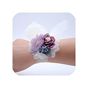 Wrist Corsage Bridesmaid Sisters Hand Flowers Artificial Bride Flowers for Wedding Dancing Party Decor Bridal Prom 6C2824 20
