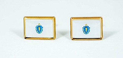 Massachusetts State Flag Cufflinks by Loud Cufflinks