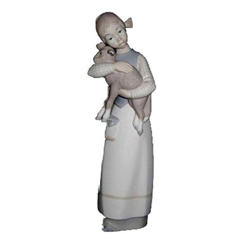 Lladro Porcelain Figurine 1010 Girl with (Lladro Girl Lamb)