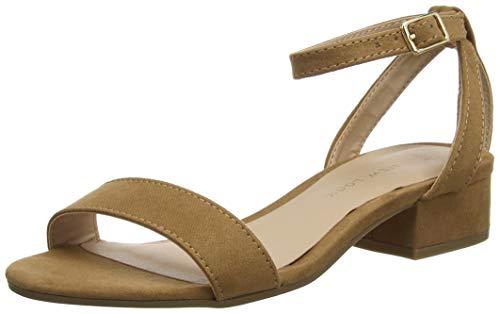 Cheville tan New Sandales 18 Bride Look Snakey Beige Femme II470Fw