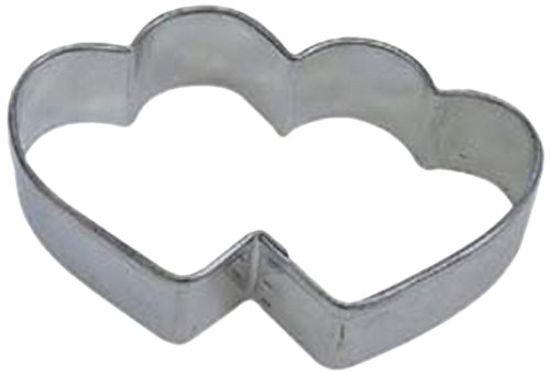 Dress My Cupcake Heart Double Cookie Cutter, 3.5-Inch