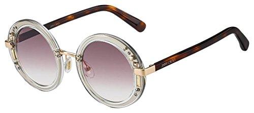 Jimmy Choo sunglasses (GEM-S 2KQ/FW) Transparent Crystal - Silver - Plum Gradient - Jimmy Sunglasses Choo Crystals With