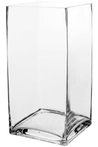 "CYS Glass Block Vase, 6"" x 6"" x 12"", 6 Piece"