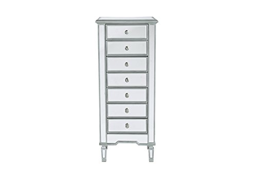 Decor Central ADMFX6-3141S 7 Drawers and Rectangle Mirror Top Lingerie Chest with 20