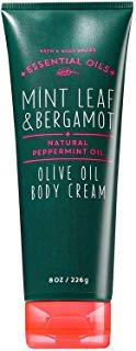(Bath & Body Works Mint Leaf & Bergamot Body Cream With Olive Oil 8 Ounce)