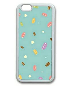 """iPhone 6 Case, Macarons Custom Case for iPhone 6(4.7"""") Soft TPU Material White"""