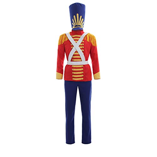 CosplayDiy Men's Outfit for Nutcracker Cosplay Costume Blue&Red M
