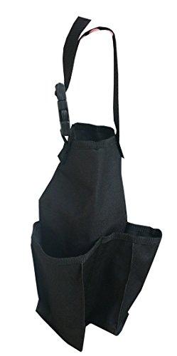 Packtasche Satteltasche mit 2 zusätzlichen Taschen Reitsatteltasche Water Bottle Twin Pockets schwarz