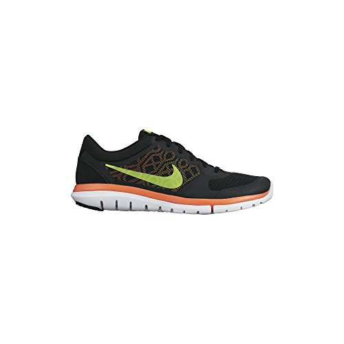 Nike Flex 2015 RN Zapatillas de running, Hombre Black/Laser Orange/Volt