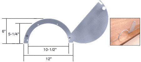 C.R. LAURENCE 725A CRL Satin Anodized Semicircular Design Ticket Window with 10-1/2'' x 5-1/4'' Opening