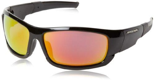 Arsenal Bane Polarized Rectangular Sunglasses,Shiny Black,63 - Sunglasses Lightest Weight Polarized