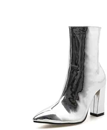 38094b1429431 Shopping Hoxekle - Silver - Mid-Calf - Boots - Shoes - Women ...