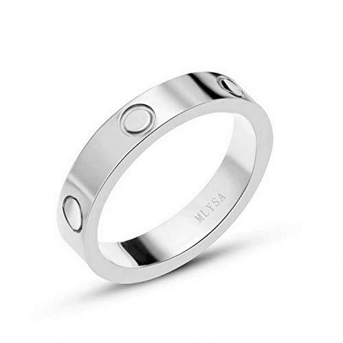 MLYSA Lifetime Love Rings for Women Men Couples Valentine's Day Promise Engagement Wedding Titanium Stainless Steel Band -