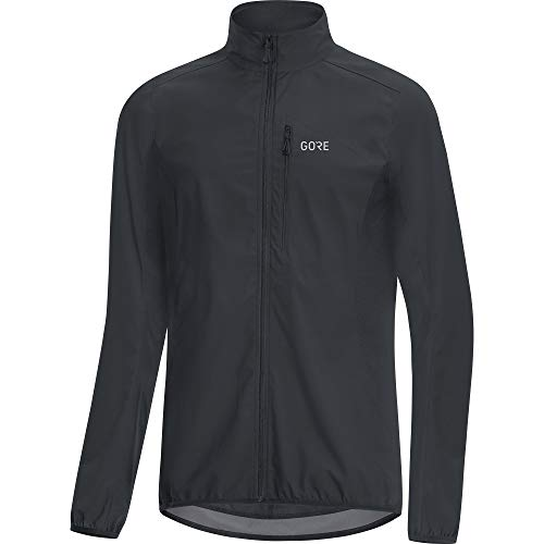 GORE WEAR C3 Men's Gore Windstopper Jacket, L, Black