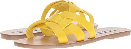 Steve Madden Women's Sicily Sandal, Yellow Leather, 9 M ()