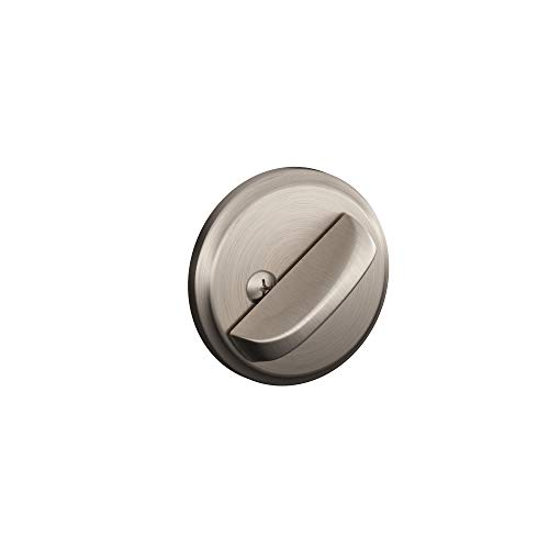 Schlage B80 619 12-287 10-116 134 N N SL One-Sided Deadbolt, Satin Nickel (Satin Nickel Single Residential)