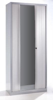 Bisley armario de cortinas – horizontal, altura 2229 mm aluminio/gris claro – Armario