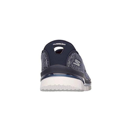 Skechers Go Flex, Baskets Sportives Femme Multicolore - Navy-Gray