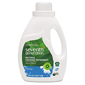Seventh Generation Free & Clear Natural 2X Concentrate Laundry Liquid, Unscented, 50oz Bottle - Includes six per case.
