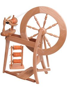 Ashford Traditional Spinning Wheel, Double Drive, Single Treadle, Natural by Ashford