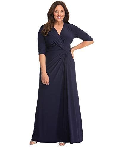 Kiyonna Women's Plus Size Romanced by Moonlight Gown - Nocturnal Navy