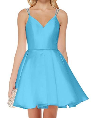 Linie A Partykleider Cocktailkleider Abendkleider Spaghetti Traeger Rock Blau Charmant Mini Damen Festlichkleider 4qX8zz