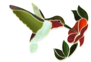 (Green Hummingbird With Flower Premium Pre-Cut)