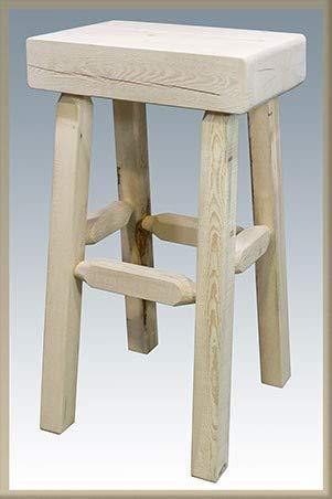 Homestead Collection Half Log Backless Barstool