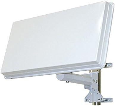 Antena parabólica extraplana HD satélite Astra Hotbird CanalSat Fransat TNT Sat
