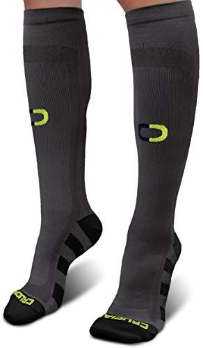 Crucial Compression Socks for Men & Women (20-30mmHg) - Best Graduated Stockings for Running, Athletic, Travel, Pregnancy, Maternity, Nurses, Medical, Shin Splints, Support, Circulation & ()