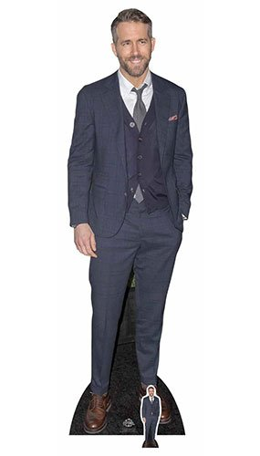 Multicolore Cartonato Celebrity Ryan Reynolds Smart Casual Tuta Cut out