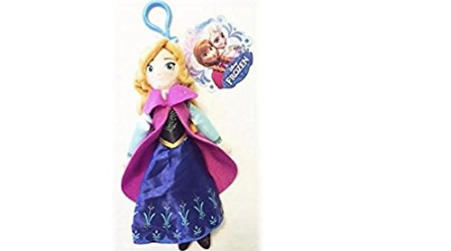 "Price comparison product image Disney Frozen Anna 8"" Plush Clip Keychain / Backpack Clip"