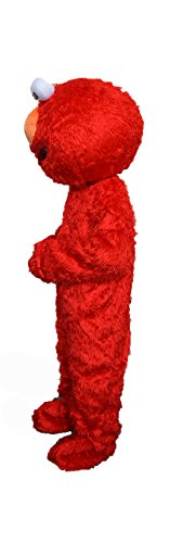 Elmo Mascot (Alkem Elmo Red Monster Mascot Costume Plush Cartoon Costume (Red))