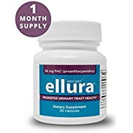 ellura 36 mg PAC (30 caps) - New Packaging - Medical-Grade Cranberry Supplement for UTI Prevention - Highest Potency