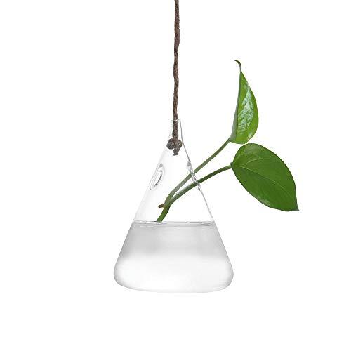 Gotian Plant Transparent Vase Creative Hanging Glass Ball Vase Flower Plant Pot Terrarium Container Party Wedding Home Decor (B) (Hanging Baubles Glass)