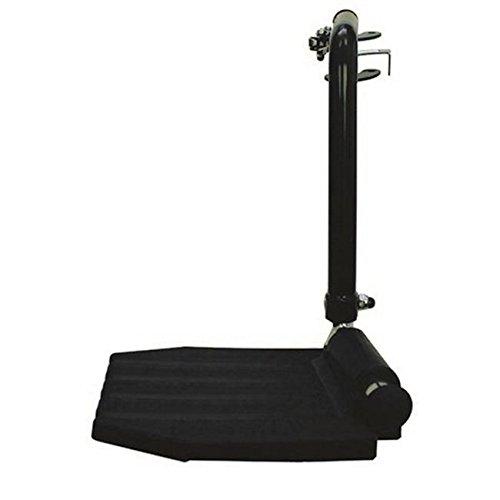 L Top Latch Footrest Black Hemi Pin Spacing Left Plastic Foo (Hemi Top)