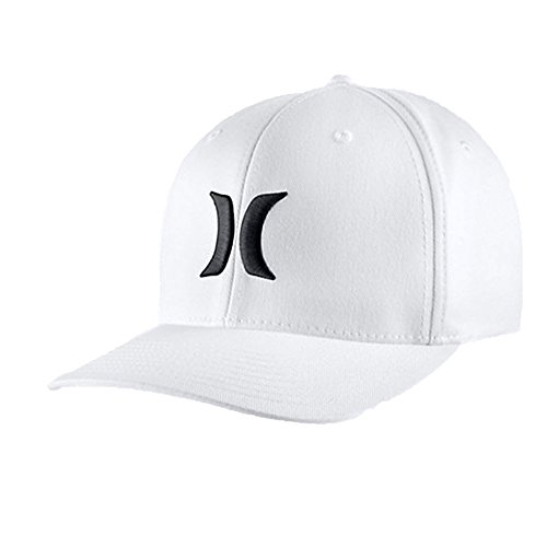 Hurley One & Only Black White Flexfit Hat White, S/M