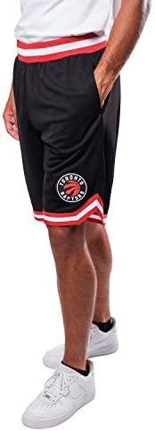 Ultra Game NBA Toronto Raptors Mens Woven Basketball Shorts, Team Color, Medium