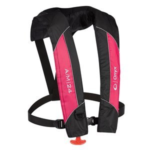 ONYX A/M-24 Automatic/Manual Inflatable Life Jacket, Pink