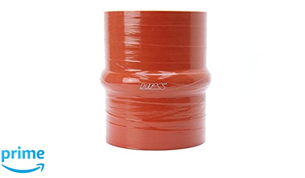 """4.0/"""" OD Straight Coupler by OBX-R Red Silicone Reinforced 10/"""" Length"""
