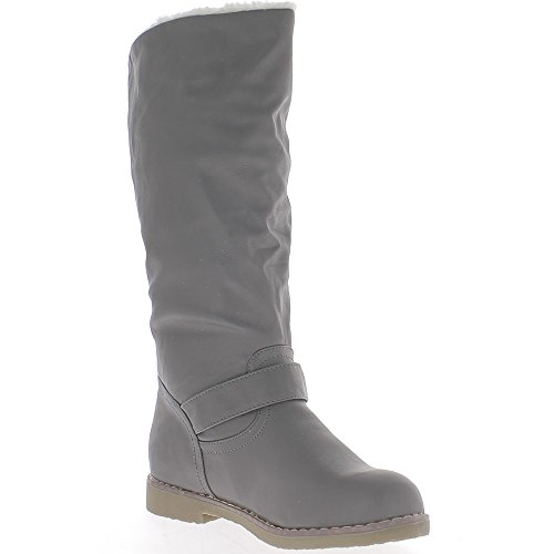 Botas grises mujer de tacón de 2,5 cm llenada