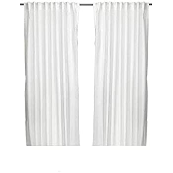 IKEA Thin Vivan Curtains L 98 1 2 X W 57 Pairs White