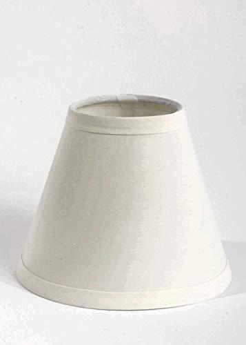 Urbanest 1100327 Mini Chandelier Lamp Shades 6-inch, Cotton, Hardback, Clip On, Eggshell