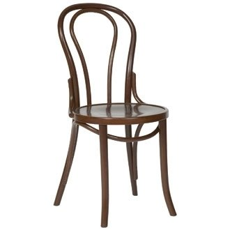 kitchen dining chairs bentwood bistro sidechair walnut pack 2
