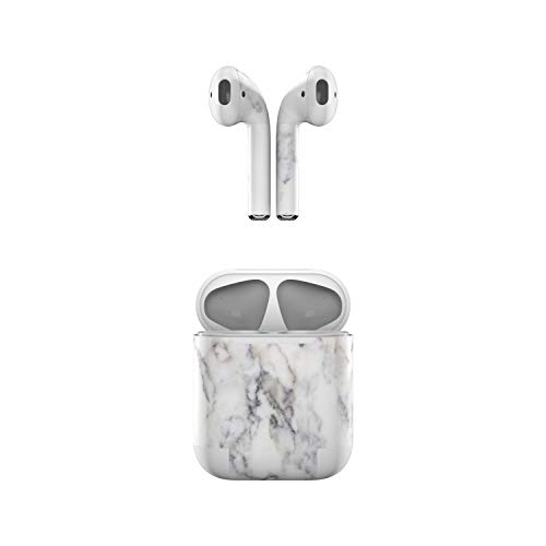 Skin Decals for Apple AirPods - White Marble - Sticker Wrap